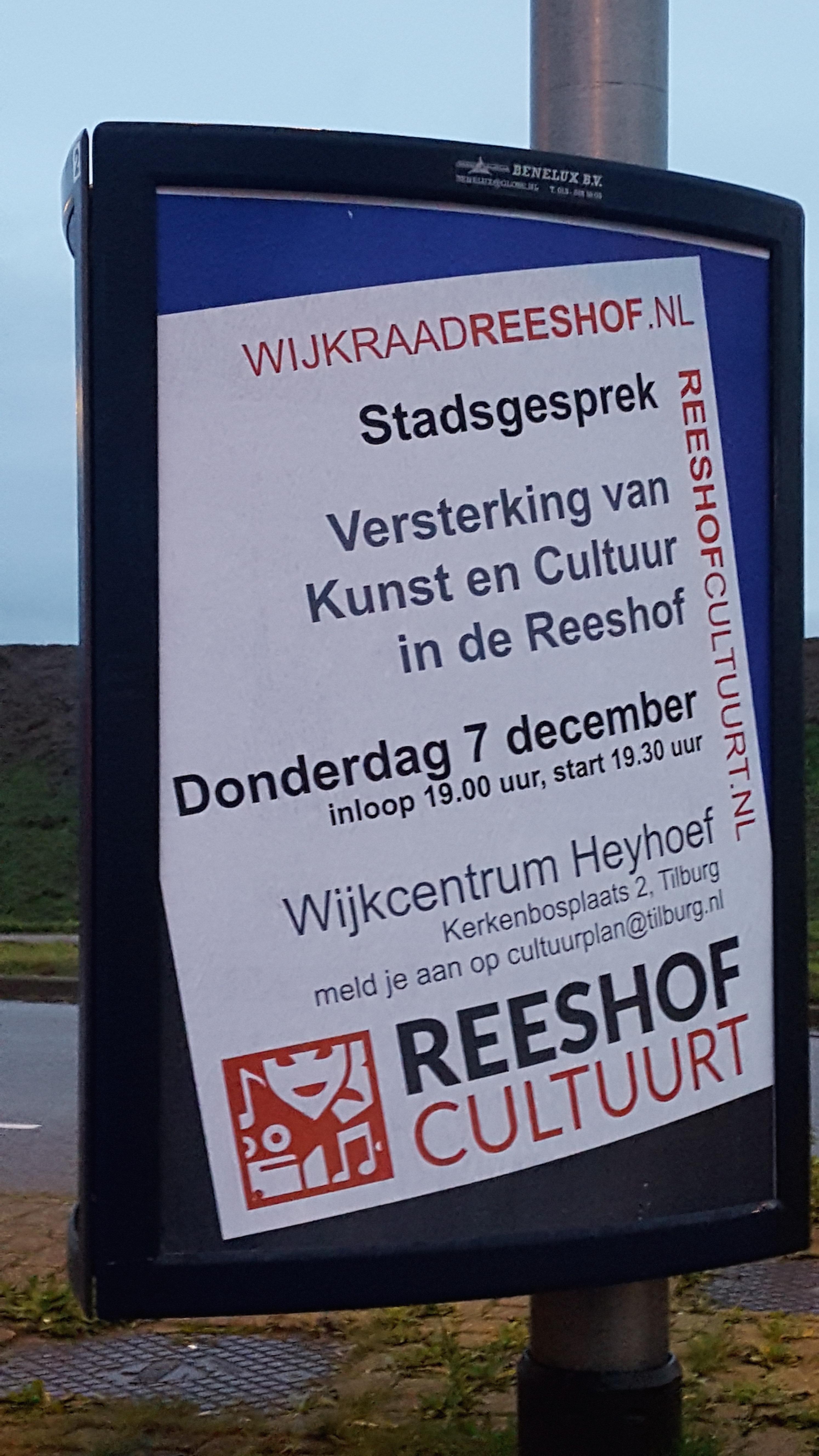 Meer cultuur in Reeshof